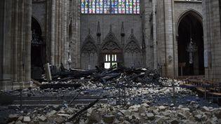 L'intérieur de la cathédrale Notre-Dame de Paris, le 16 avril 2019. (AMAURY BLIN / AFP)