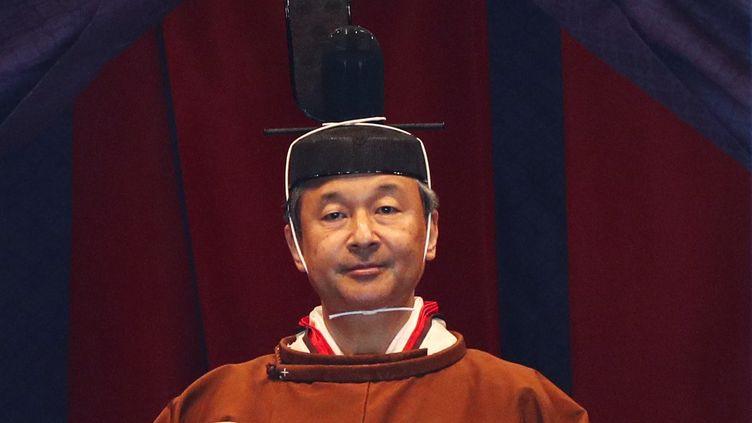 L'empereur Naruhito lors de son intronisation au palais impérial de Tokyo (Japon), le 22 octobre 2019. (ISSEI KATO / POOL)