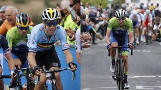 Comme sur le Tour de France, Wout Van Aert et Tadej Pogacar devraient jouer la gagne sur la course en ligne des JO 2021 à Tokyo. (AFP)