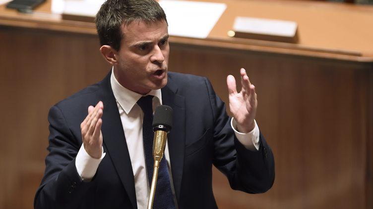 Le Premier ministre, Manuel Valls, le 16 septembre 2014 à l'Assemblée nationale. (ERIC FEFERBERG / AFP)