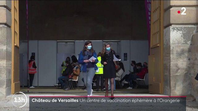 Covid-19 : un centre de vaccination éphémère au château de Versailles