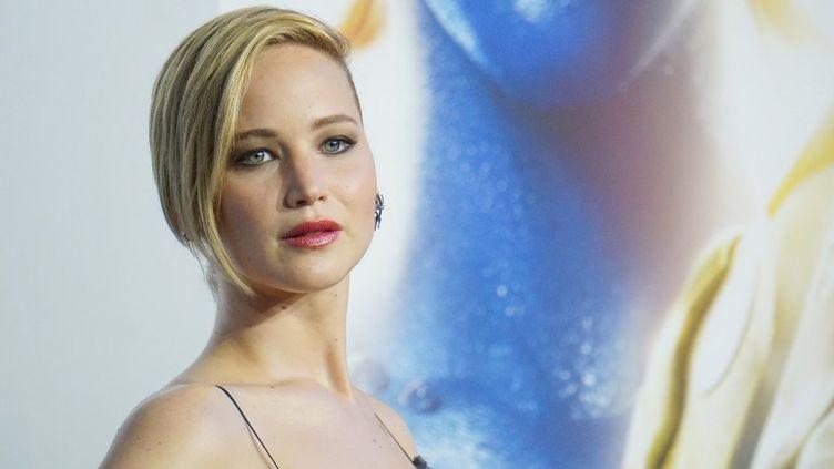 """Jennifer Lawrence lors de la promotion du film""""X-Men: Days Of Future Past"""", le 10 mai 2014 à New York (Etats-Unis). (MIKE COPPOLA / GETTY IMAGES NORTH AMERICA / AFP)"""