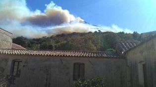 Un incendie s'est déclaré, dimanche 22 octobre,entre Ville di Parasu et Novella (Haute-Corse) (FRANCE 3 VIASTELLA)