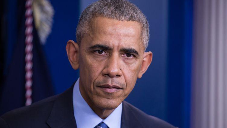 Barack Obama lors d'une conférence de presse à la Maison Blanche, à Washington, le 16 décembre 2016. (CHERISS MAY / NURPHOTO / AFP)