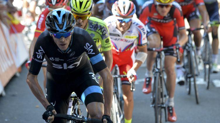 """Froome, Contador et """"Purito"""" Rodriguez déjà dans le match au Mur de Huy (POOL BERNARD PAPON / BELGA MAG)"""