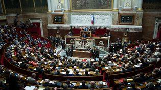 L'hémicycle lors de ladéclaration de politique générale de Manuel Valls le 16 septembre 2014 (LCHAM / SIPA)