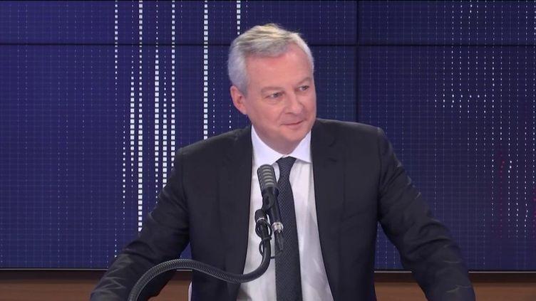 """Bruno Le Maire, le ministre de l'Économie, était l'invité du """"8h30 franceinfo"""", lundi 14 décembre 2020. (FRANCEINFO / RADIOFRANCE)"""