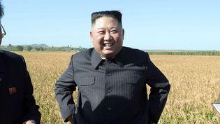 Le leader nord-coréen Kim Jong Un surune photo publiée le 9 octobre 2019 par l'agence officielle nord-coréenne KCNA. (KCNA VIA KNS / AFP)