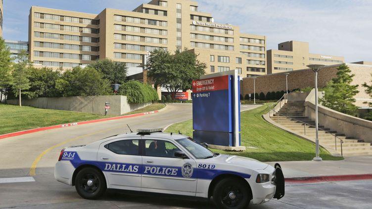 Le Texas Health Presbyterian Hospital, à Dallas (Etats-Unis),où un homme atteint d'Ebola est hospitalisé. (LM OTERO / AP / SIPA)