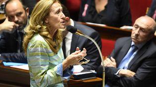 La ministre de la Justice Nicole Belloubet, le10 octobre 2017, àl'Assemblée nationale. (BERTRAND GUAY / AFP)