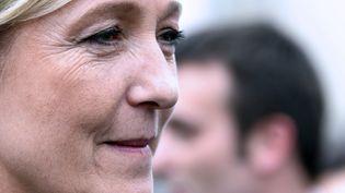 La présidente du FN, Marine Le Pen, le 26 juin 2013, à Forbach (Moselle). (JEAN-CHRISTOPHE VERHAEGEN / AFP)