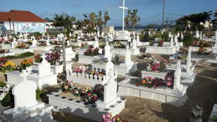 Le cimetière de Lorient, à Saint-Barthélémy, où sera enterré Johnny Hallyday le 11 décembre 2017. (HELENE VALENZUELA / AFP)