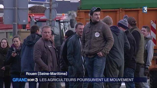 Les agriculteurs poursuivent le mouvement