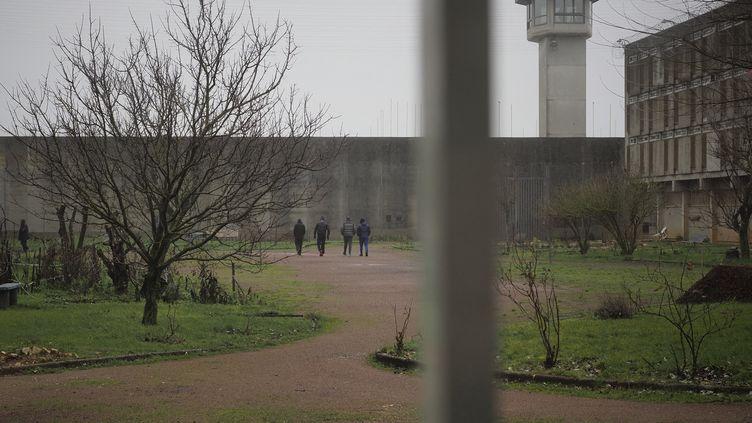 Des détenus à la prison de Saint-Maur (Indre), en février 2021. (GUILLAUME SOUVANT / AFP)