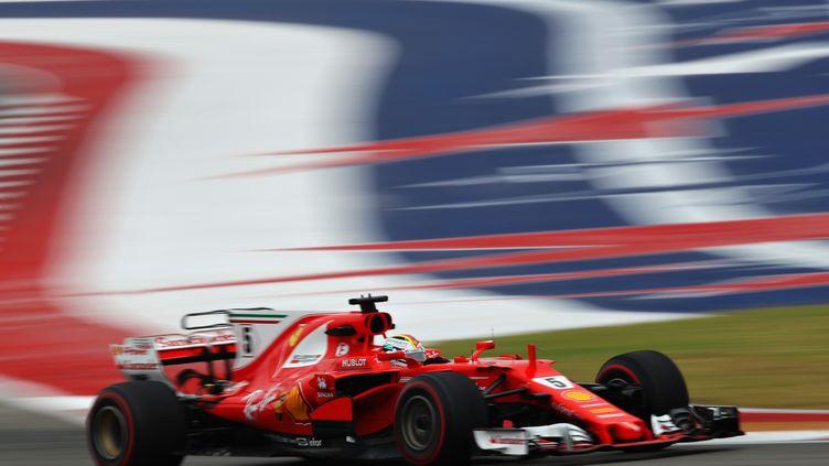 Sebastian Vettel (Ferrari) à Austin (CLIVE MASON / GETTY IMAGES NORTH AMERICA)
