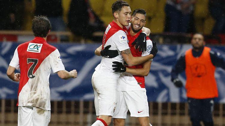 Les deux joueurs monégasques Yannick Ferreira-Carrasco et Lucas Ocampos