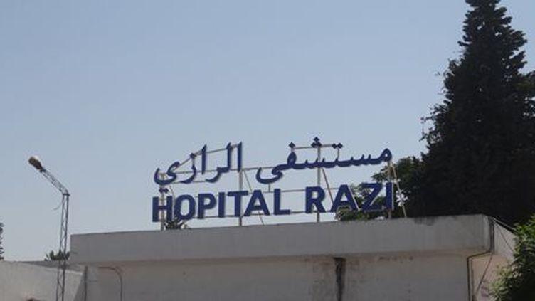 A l'entrée de l'hôpital Razi à Tunis le 25 juin 2015 (FTV)