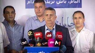 Abdellatif Ouahbi, lesecrétaire général du parti authenticité et modernité, le 9 septembre 2021 à Rabat (Maroc). (FADEL SENNA / AFP)