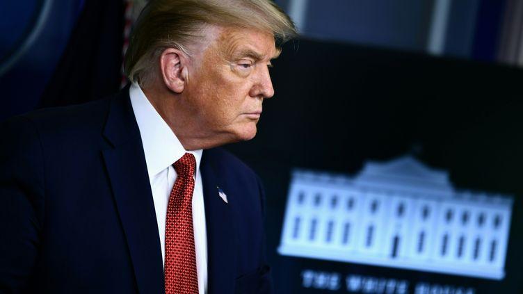 Le président américain, Donald Trump,à la Maison Blanche, à Washington, le 10 août 2020. (BRENDAN SMIALOWSKI / AFP)