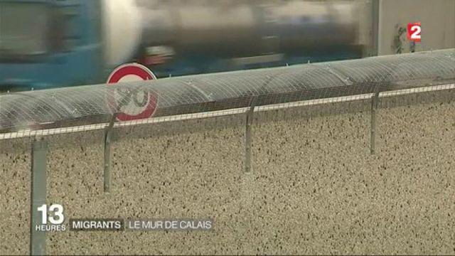 """Calais : le mur """"anti-intrusions"""" est terminé"""