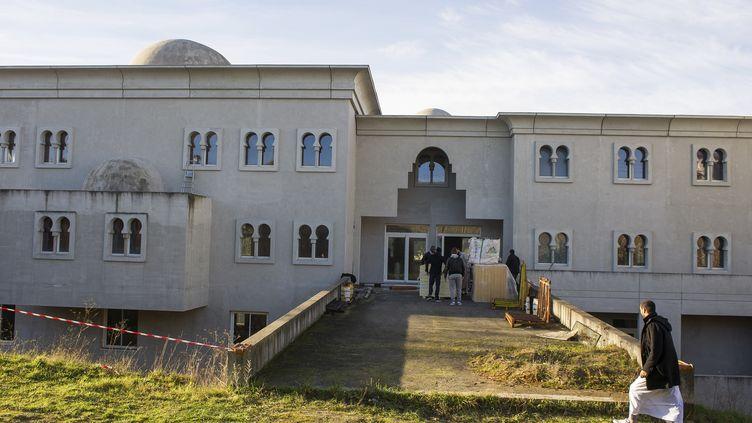La mosquée en construction de Poitiers (Vienne), le 12 janvier 2015. (GUILLAUME SOUVANT / AFP)