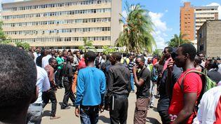 Manifestation d'étudiants à Nairobi (Kenya), le 7 avril 2015. ( ANADOLU AGENCY / AFP)