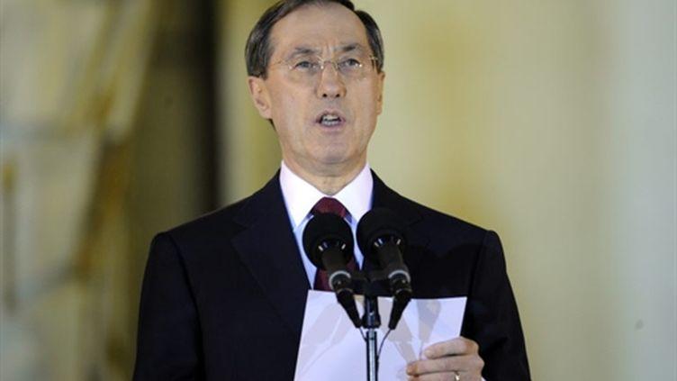 Claude Guéant annonce la composition du gouvernement (14/11/2010) (AFP)