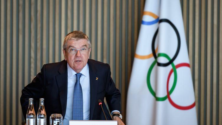 Le président du CIO, Thomas Bach (FABRICE COFFRINI / AFP)