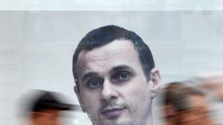 Oleg Sentsov, cinéaste ukrainien en grève de la faim. (SERGEI SUPINSKY / AFP)