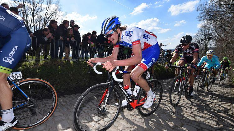 Yoann Offredo (FDJ s'est battu sur ce Paris-Roubaix (DE WAELE TIM / TDWSPORT SARL)