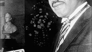 Martin Luther King reçoit le prix Nobel de la paix, le 10 décembre 1964 à Oslo (Norvège). (FILES / AFP)
