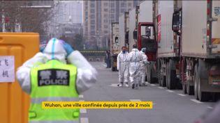 Wuhan, en Chine, estdésinfecté (FRANCEINFO)