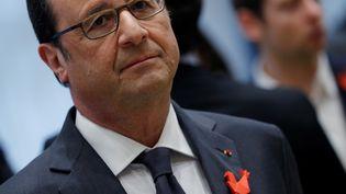 François Hollande lors d'uen conférence sur les startups de la French Tech Ticket à Paris, le 16 janvier 2017 (PHILIPPE WOJAZER / AFP)