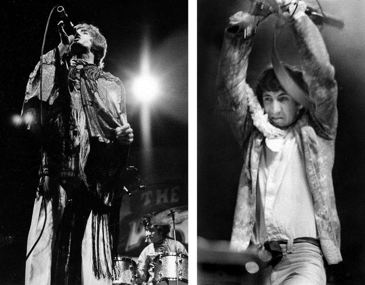 The Who : Roger Daltrey, Keith Moon, et Pete Townshend sur la scène de Monterey, le 18juin 1967  (AP/SIPA)