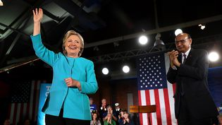 Hillary Clinton, lors de son meeting le 6 novembre dans le New Hampshire (JUSTIN SULLIVAN / GETTY IMAGES NORTH AMERICA)