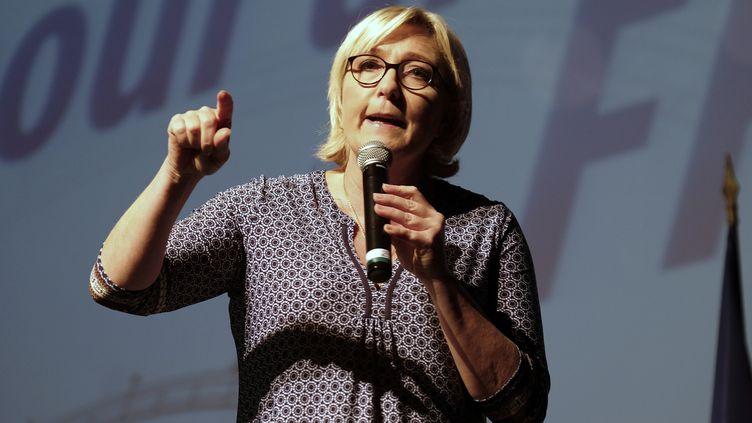 Marine le Pen, le 23 septembre 2017, à Bruguières (Haute-Garonne). (ERIC CABANIS / AFP)