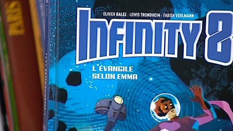 """Couverture du troisième tome de la saga """"Infinity 8"""", illustré par Olivier Balez, scénarisé par Fabien Vehlmann.  (France 3 / Culturebox)"""