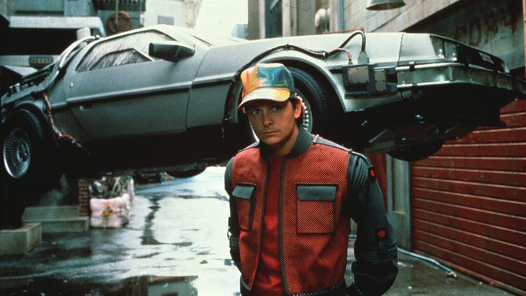 """Michael J. Fox, dans le rôle de Marty McFly, dans """"Retour vers le futur II"""", de Robert Zemeckis, sorti en 1989. (AMBLIN / UNIVERSAL/ KOBAL / AFP )"""