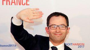 Benoît Hamon, le 22 janvier 2017 à Paris au soir de sa victoire au premier tour de la primaire de la gauche. (JACKY NAEGELEN / REUTERS)