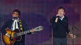 Alain Souchon et Laurent Voulzy en janvier 2010 au Zénith à Paris  (BERTRAND LANGLOIS / AFP)