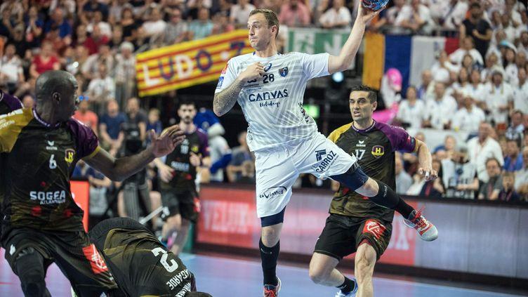 Le joueur de Montpellier Valentin Porte (FEDERICO GAMBARINI / DPA)