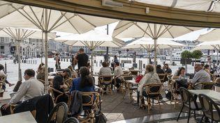 La terrasse d'un café, le 24 septembre 2020 à Marseille (Bouches-du-Rhône). (MAXPPP)