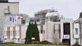 L'unité de production de poudre de lait de la marque Celia de l'entreprise Lactalis, à Craon (Mayenne), le 10 décembre 2017. (MAXPPP)