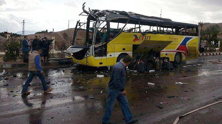 Une attentat à la bombe a visé un bus de touristes, le 16 février 2014 près de Taba, en Egypte. ( AFP )