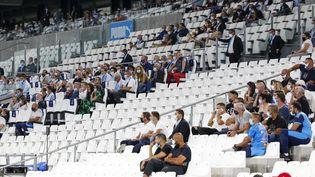 Les tribunes du stade Vélodrome lors du match entre l'Olympique de Marseille et l'AS Saint-Etienne (Ligue 1) le 17 septembre 2020. (SPEICH FRÉDÉRIC / MAXPPP)