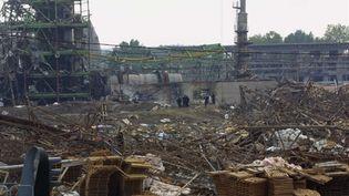 Vue prise le 21 septembre 2001, de l'usine AZF dans la banlieue sud de Toulouse. (© AFP / Pascal Pavani)