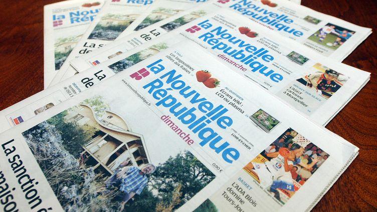 """Le journal régional """"La Nouvelle République"""" (image d'illustration). (ALAIN JOCARD / AFP)"""