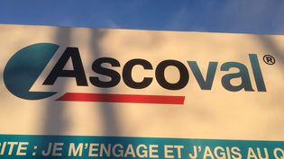 Logo de l'entreprise, en décembre 2018. (AUDREY MORELLATO / FRANCE-INFO)