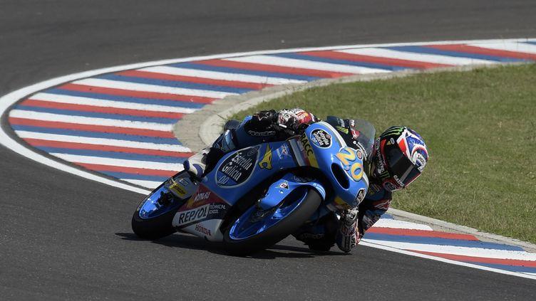 Fabio Quartararo a décroché sa deuxième pole en Moto3 (JUAN MABROMATA / AFP)