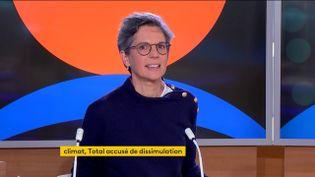 Sandrine Rousseau,conseillère spéciale aux questions de précarité et de discrimination auprès de Yannick Jadot, mercredi 20 octobre sur franceinfo. (FRANCEINFO)